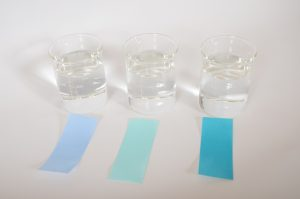 Test strips prepared to be tested